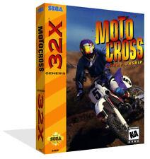 MotoCross Championship SEGA 32x remplacement Boîte Étui + Housse Art Work-no game