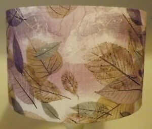 Pressed Leaves Lamp Shade Lampshade shabby chic,lilac,purple FREE GIFT