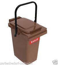 SULO Abfalltonne Mülleimer Abfalleimer Restmüll Kompost Tonne 25 L braun NEU.