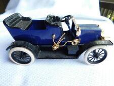 """Vintage 'John Deere' 1907 Type """"B"""" 'Clark Motor Car Navy Blue Die-cast Model"""