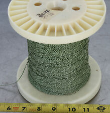 GUDEBROD BUTTWIND CUSTOM FISHING ROD WINDING WRAP GREEN & WHITE ENTIRE SPOOL #1