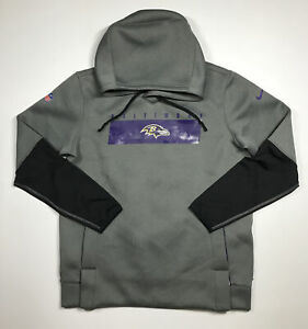 Nike Men's Baltimore Ravens Sideline Therma-FIT Heavy Hoodie Size Large New