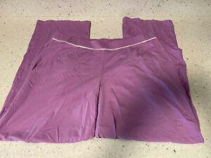 purple LIZ CLAIBORNE sleep wear lounge pants size large