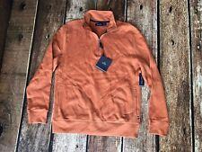 Nautica Men's Windward Quarter-Zip Sweater Spiced Amber Mens Size Large New