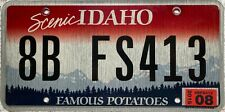 GENUINE American Idaho Famous Potatoes USA License Number Plate Tag 8B FS413