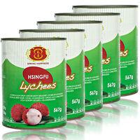 5 x Spring Happiness - Premium Litschis in 567 g Dose - Original Lychee Litchi