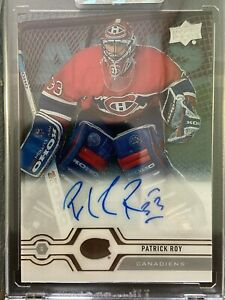 2019-20 UPPER DECK CLEAR CUT PATRICK ROY AUTO SP MONTREAL CANADIENS