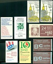 U.S. Discount Postage Lot, 9 booklets, Face $35.22