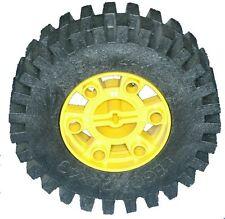 Missing Lego Brick 3739 & 3740 Black & Yellow Technic Tyre & Hub 24x43