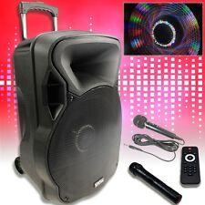 800W Mobile LED Party Soundanlage Karaoke Bluetooth USB SD Trolley Funkmikro MP3