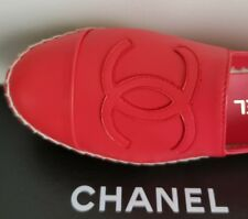 CHANEL SEXY ICONIC RED DOUBLE SOLE ESPADRILLES EU 36 37 39 40 41 I LOVE SHOES