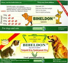 10 Biheldon Dog Cat Wormer Dewormer Tablet Pill Tapeworm Hookworm Roundworm USA
