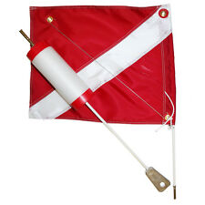 Foam Dive Float with 14x18 Nylon Dive Flag, Red Caps