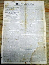 1814 War of 1812 newspaper w political ad headline FREE TRADE AND SAILORS RIGHTS