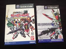 SD GUNDAM GASHAPON WARS Nintendo Gamecube GCN NTSC J *SLIP CASE & MANUAL ONLY*