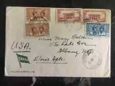 1939 St Pierre Martinique Cover NASM Holland American Line To Usa