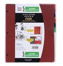 NEW Five Star Flex NoteProtector Tabbed Binder Divider Inserts 5-Pack