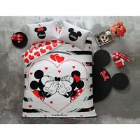 double queen size bedding set duvet quilt cover set disney mickey minnie mouse
