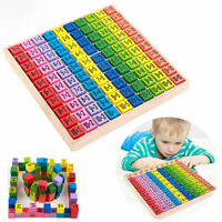 Montessori Toy Math Mathematics Educational Game Kid Gift Numbers Wood Puzzle