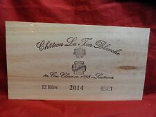 2014  CHATEAU TOUR BLANCHE SAUTERNES GRAND CRU WOOD WINE PANEL END