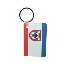 Schlüsselanhänger Flagge Fahne Landkreis Pinneberg Alu 40 x 57 mm