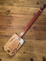 "3 string cigar box guitar #185 ""Juke Joint Blues"""