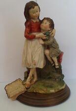 "Giuseppe Armani Figurine Gulliver's World Capodimonte 10"" Tall Girl Boy - Signed"