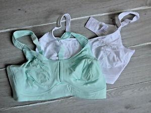Petite Fleur Damen BH weiß und türkis grün Ton Doppelpack Gr. 100 E (190) NEU