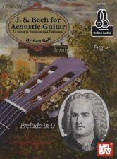 Johann Sebastian Bach for Acoustic Guitar TAB Music Book with Audio J S Ben Bolt