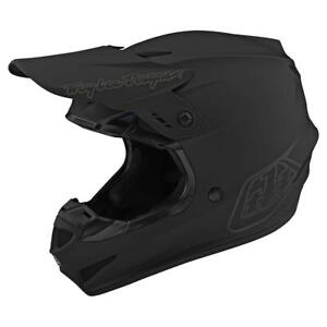 New Troy Lee Designs GP Motocross Helmet, MTB, Mono Black, Large or Extra Large