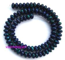 "Azurite Malachite Rondelle Beads 5×8mm 15"""