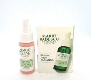 Mario Badescu Skin Care Facial Spray With Aloe Herbs & Rosewater + Gift ~ 1 oz
