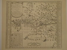 Landkarte, Das Amt Langensalza nach Adam Friedrich Zürner um 1760, Faksimile