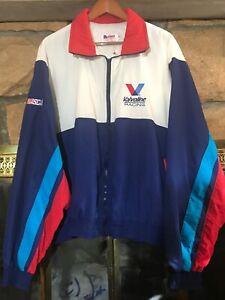 VTG MARK MARTIN NASCAR Valvoline Windbreaker Jacket 90s Vintage XL
