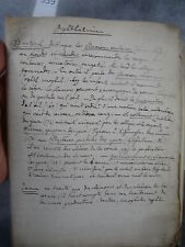Ferdinand Monoyer manuscrit Ophthalmier ophtalmologie optique médecine