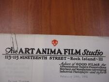 Movie letterhead Anima Film w/ trailer negatives Charlie Chaplin The Kid 2/16/21