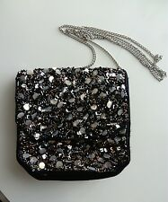 LADIES/GIRLS ATMOSPHERE BLACK SEQUIN OVERBODY BAG NEW WITH TAGS