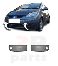 FOR MITSUBISHI COLT 04-08 FRONT BUMPER MOLDING WITH HOLE FOR PAINTING PAIR SET