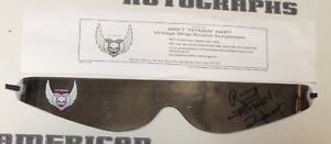 Bret Hart Signed Silver Throwback Hitman Wrap Around Glasses Shades PSA/DNA WWE