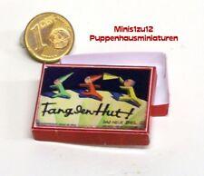 3104# Nostalgie-Spielekarton Fang den Hut - Puppenhaus - Puppenstube - M 1zu12