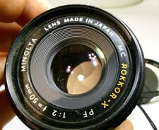 Minolta 50mm f2 Rokkor-X Lens Manual Focus adapted to SONY And α6100 α6300