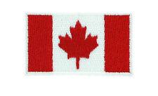Toppe Toppa PATCH CANADA 3x2 canadese Bandiera banderina ricamata termoadesivo