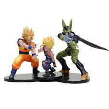 DRAGON BALL Dramatic Set 3 Personaggi  Goku Gohan Cell Action Figure Giocattolo