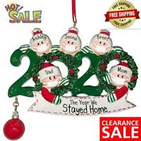 2020 Merry Christmas Hanging Ornament Family Personalized Ornaments Xmas Decor