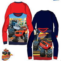 kids Boys BLAZE MONSTER CARS Disney Characters Jumper Sweat Tops,3-4-6-8YRS