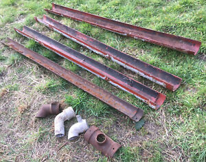Cast Iron guttering sections & down pipe fittings Victorian Industrial Original