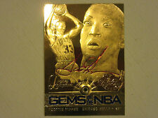 1997 Fleer Showcase Legacy Collection Gems of the NBA 23KT Gold  Scottie Pippen