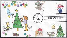 CHRISTMAS  CATS  DOGS  BIRDS  TREE  ORNAMENTS      FDC- DWc CACHET