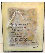 "Hand Painted Canvas Wall Art by Rhonda Kullberg...""Irish Blessing"""