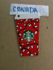 Canada   new Starbucks gift card 6127 Red tumbler